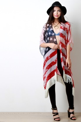 4th of July Poncho