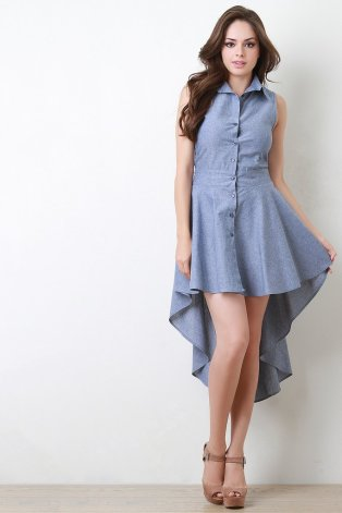 Chmbray Button Up High-Low Dress.jpg