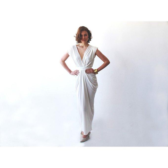 White Evening Maxi Dress