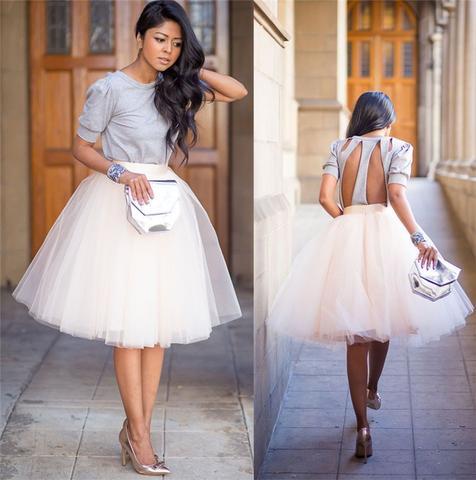 'Destinations' tulle skirt