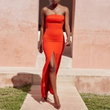 Coral Life strapless maxi
